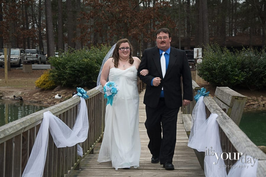 wedding-photography-cartersville-bride with father - coming down isle