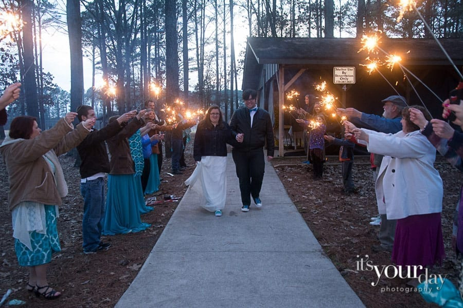 wedding-photography-cartersville-sparkler exit - leaving reception