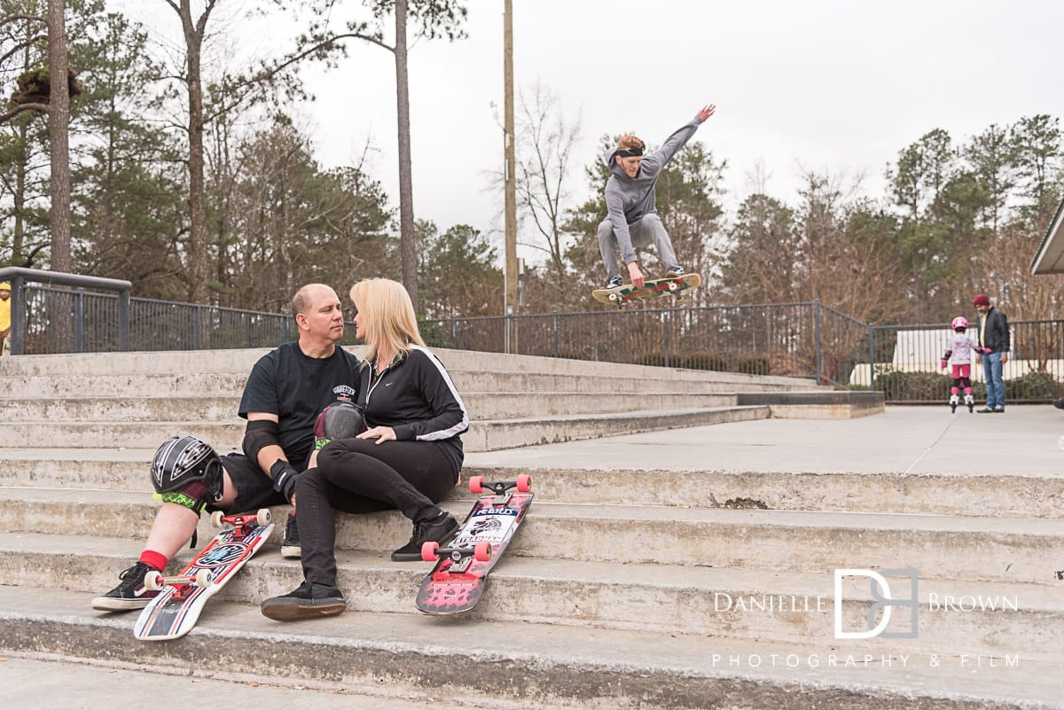 atlanta skatepark engagement photos