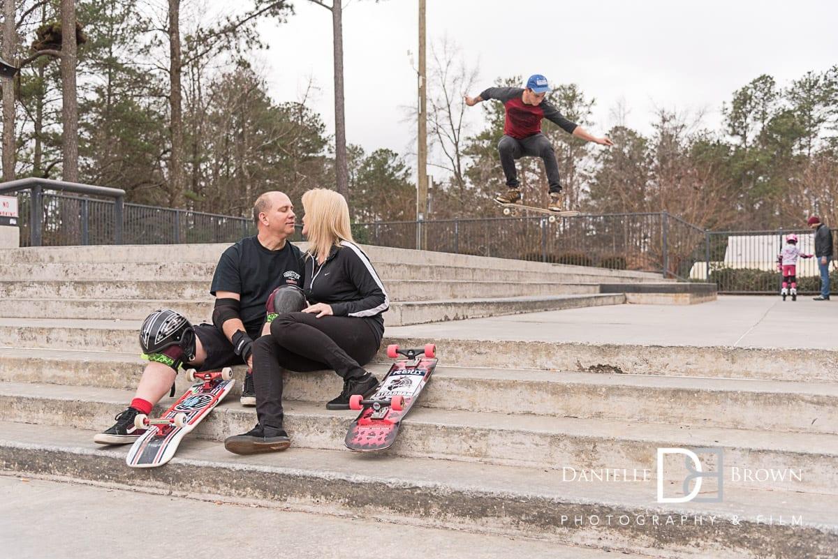 atlanta skatepark engagement photos