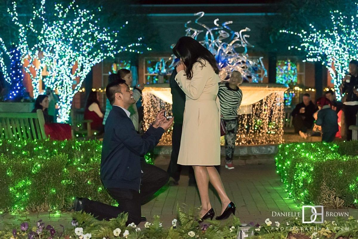 surprise proposal atlanta botanical garden
